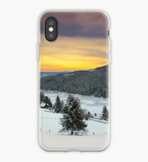 December sunrise over the mountain lake iPhone Case