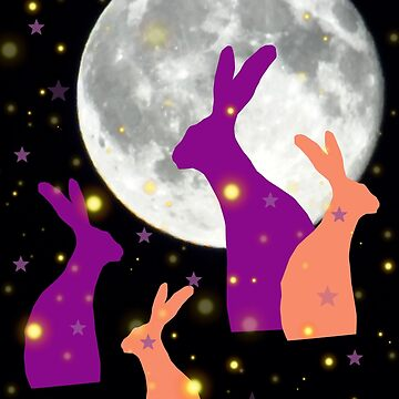 Moon gazy hares by chihuahuashower