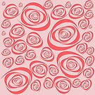 Pink Roses background. by ikshvaku