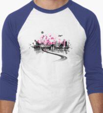Cityscape background, urban art Men's Baseball ¾ T-Shirt