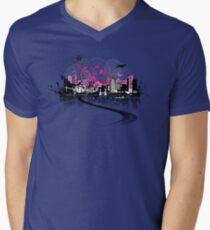 Cityscape background, urban art Men's V-Neck T-Shirt