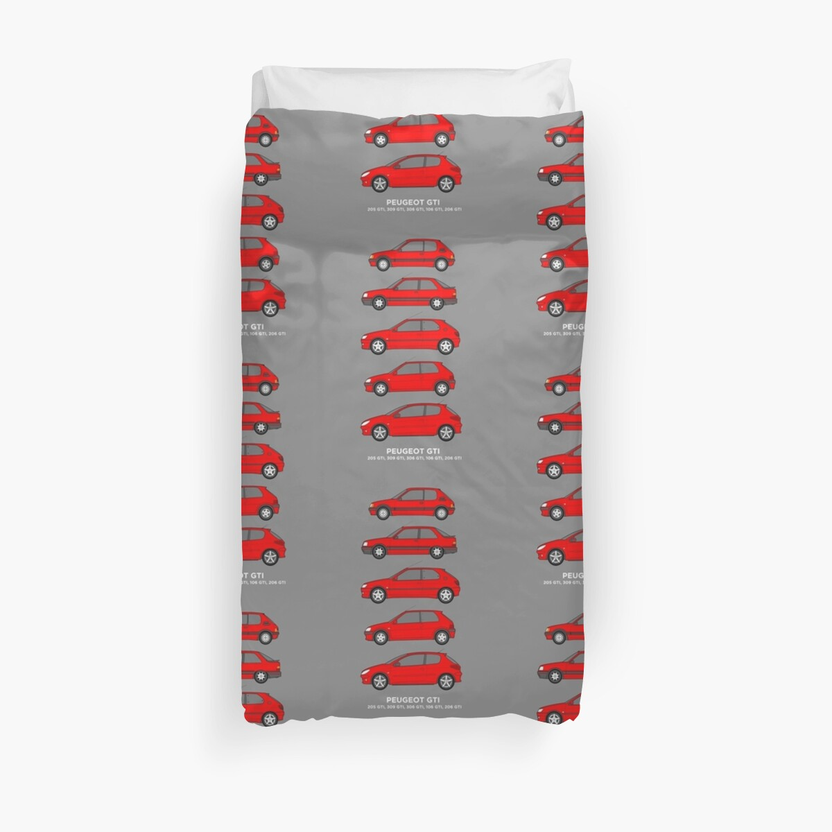 Peugeot GTI Hatchbacks Classic Car Outline Collection by RJWautographics