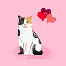 Calico Cat love heart balloons cat lady cat gifts cat person must have by PetFriendly