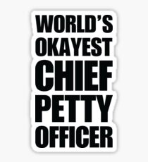 World's Chief Petty Officer Coffee Mug Sticker