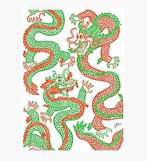 Battling Dragons Photographic Print