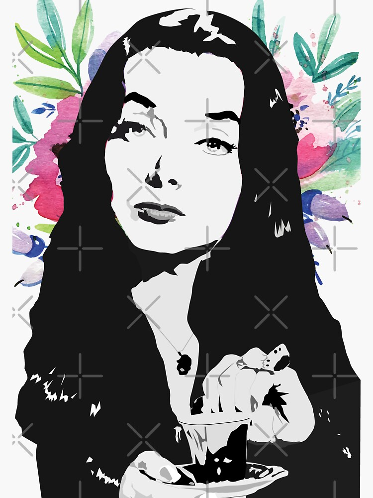 Morticia (the Addams family) Carolyn Jones by mayerarts