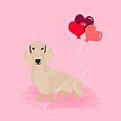 Dachshund heart balloons valentines day dog breed must have gifts dachsies  by PetFriendly