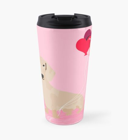 Dachshund heart balloons valentines day dog breed must have gifts dachsies  Travel Mug