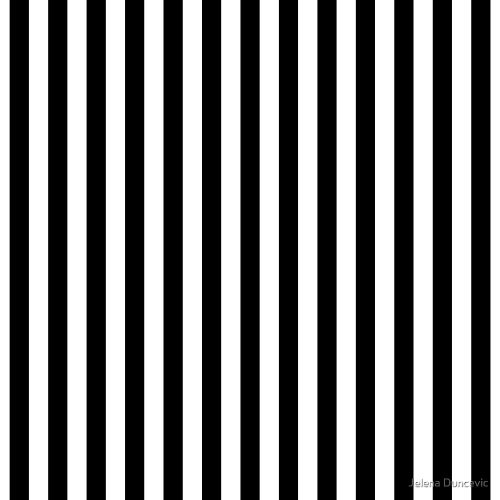 Stripes (Parallel Lines) - White Black by sitnica