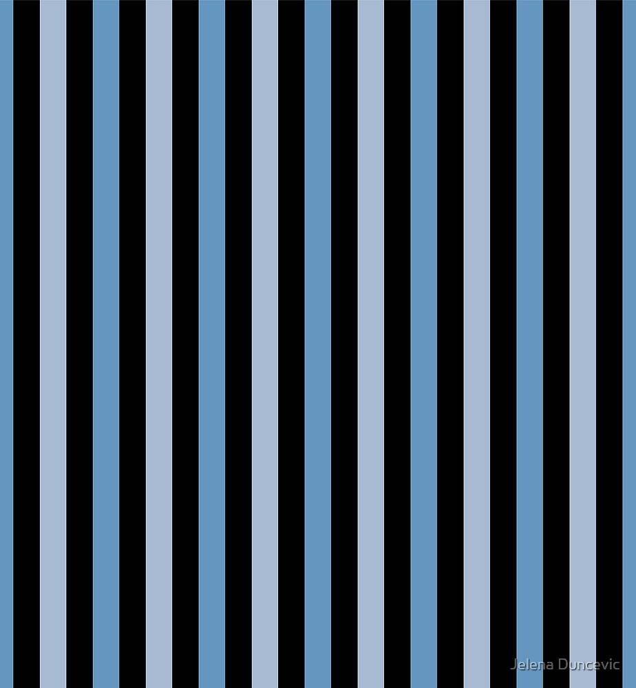 Stripes (Parallel Lines) - Blue Black  by sitnica