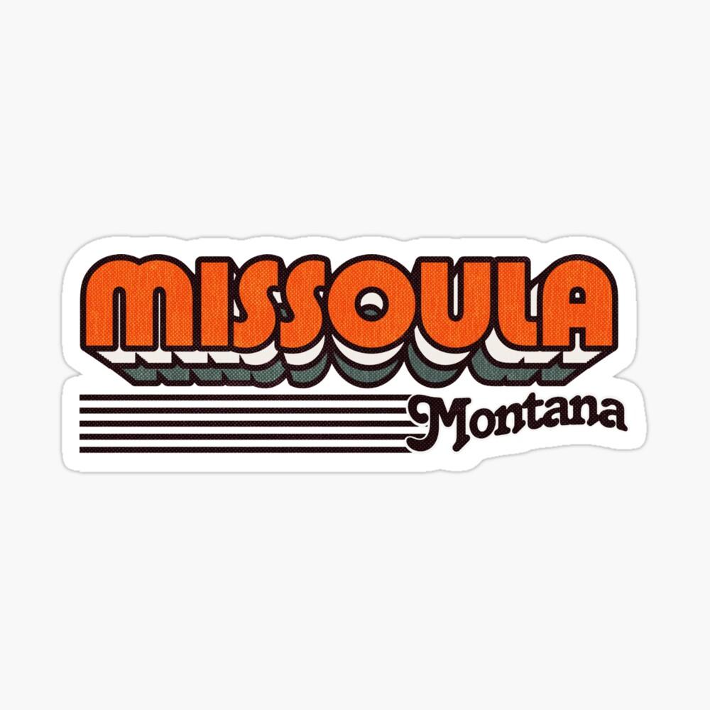 Missoula, Montana | Retro Stripes Sticker