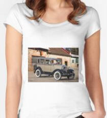 1930 Ford Model A Touring Sedan I Women's Fitted Scoop T-Shirt