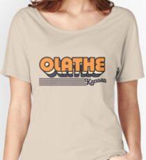 Olathe, Kansas | Retro Stripes Women's Relaxed Fit T-Shirt