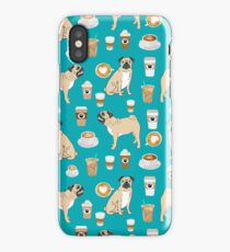 Pug coffee pupuccino dog breed cute pugs pure breed lovers gifts iPhone Case/Skin