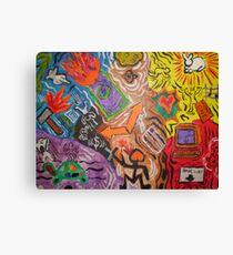 Chaos In Motion (A Keith Haring Tribute) Canvas Print