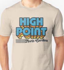 High Point, North Carolina | Retro Stripes Unisex T-Shirt