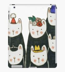 Six cute cats with hats iPad Case/Skin
