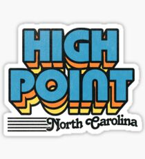 High Point, North Carolina | Retro Stripes Sticker