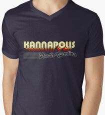 Kannapolis, North Carolina | Retro Stripes Men's V-Neck T-Shirt