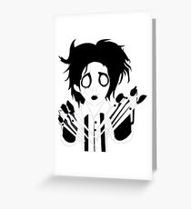 Edward scissor hands Greeting Card
