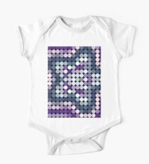 purple and blue dotted star design One Piece - Short Sleeve