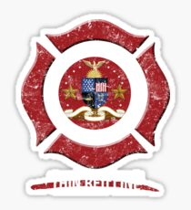 Sacramento California Shirt Firefighter Shirt Sticker