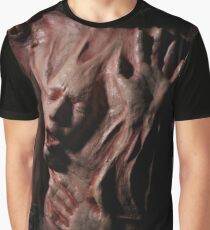 horror bipolar and depression art dark soul art face and hands Graphic T-Shirt