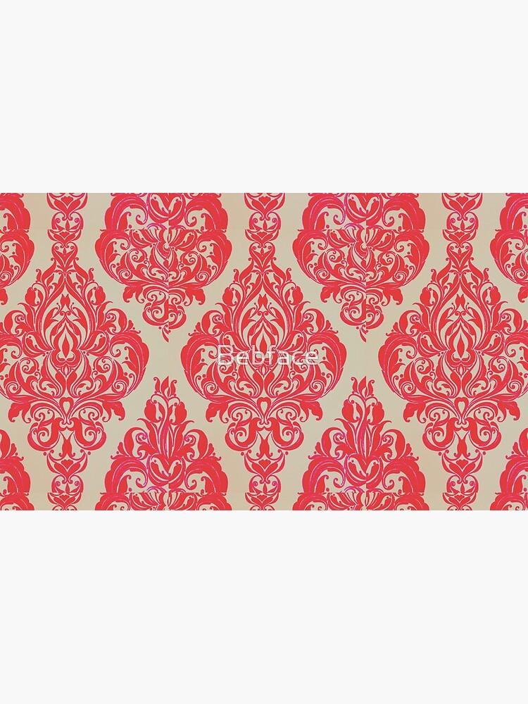 Rot / Pink Französisch inspirierte Print von Bebface