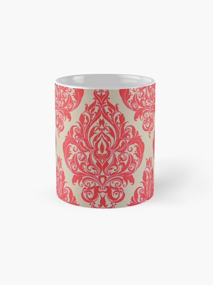 Alternative Ansicht von Rot / Pink Französisch inspirierte Print Tassen
