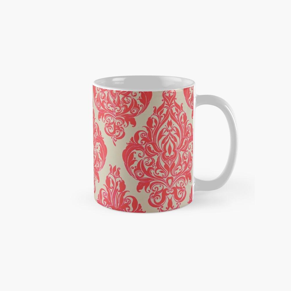 Rot / Pink Französisch inspirierte Print Tassen