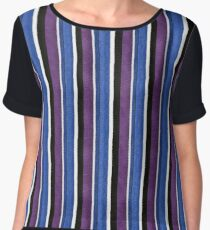 Knitted texture stripes 1 Chiffon Top