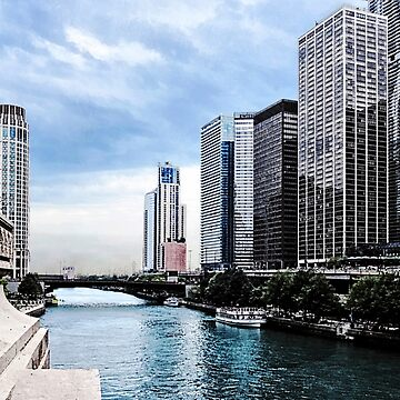 Chicago - View From Michigan Avenue Bridge by SudaP0408