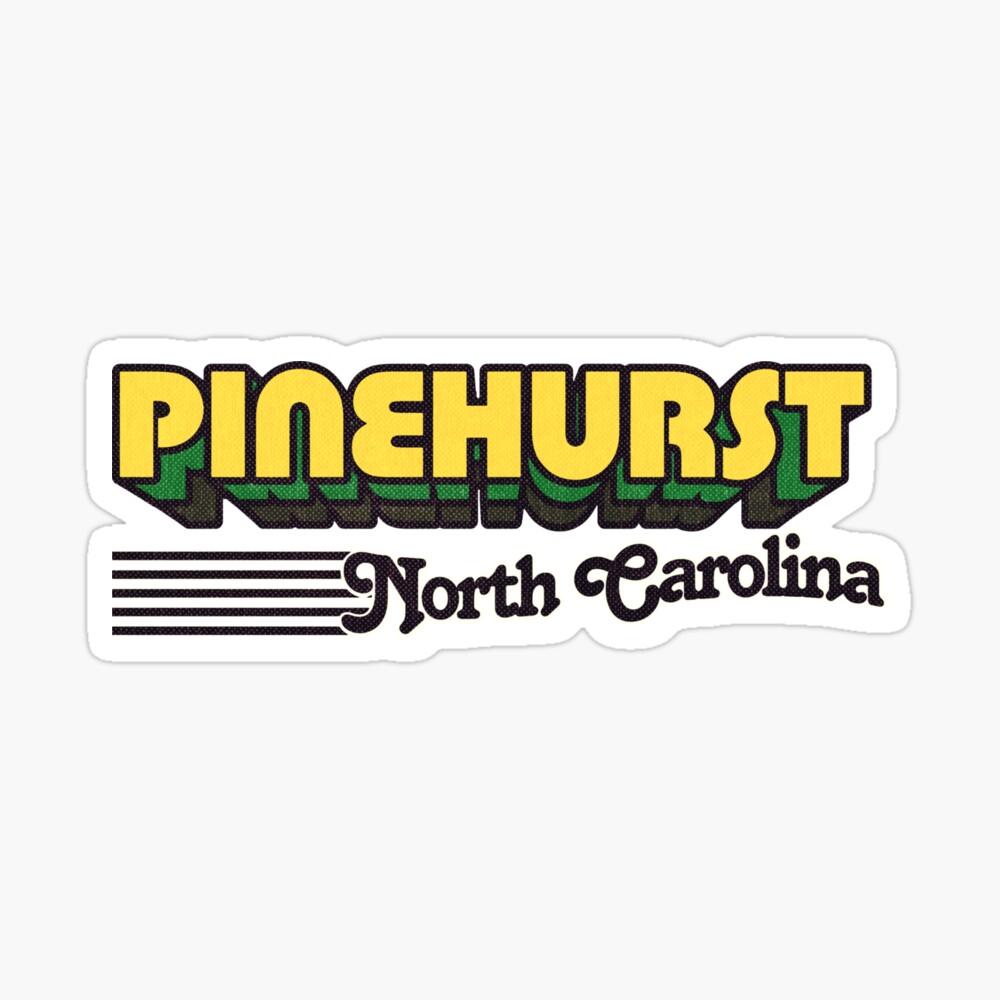 Pinehurst, North Carolina   Retro Stripes Sticker