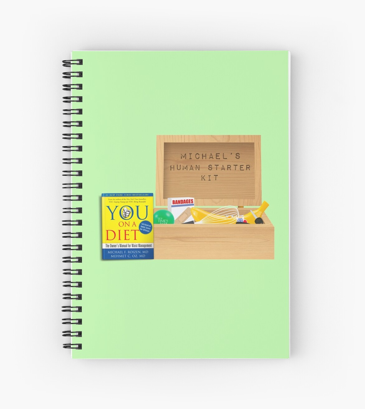 Michael S Human Starter Kit The Good Place Spiral Notebooks By