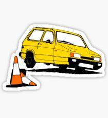Reliant Robin on tilt - yellow Sticker