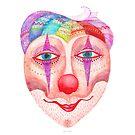 trust the clown mask portrait by nuanz