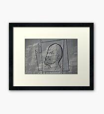 bas-relief of Lenin Framed Print