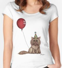 Kitty Celebration Women's Fitted Scoop T-Shirt