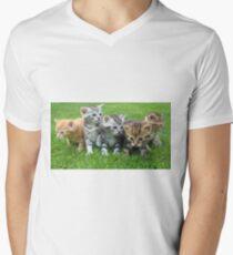 Kitten Friends Men's V-Neck T-Shirt