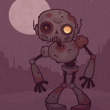 Rusty Zombie Robot  by fizzgig