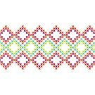 Bright Cross-Stitch Squares by Annie Webster