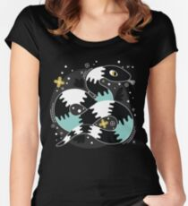 Snake Design Women's Fitted Scoop T-Shirt