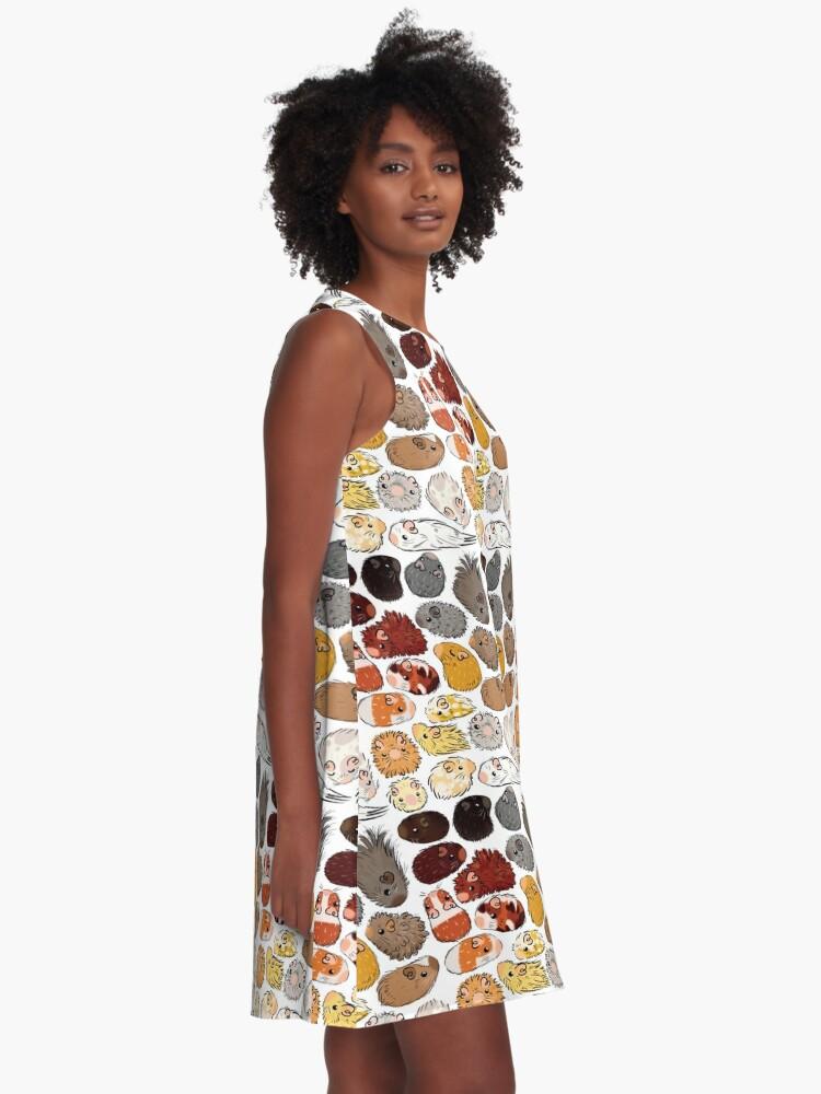 Alternate view of Guinea Pig Gradient A-Line Dress
