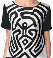 Westworld Labyrinth / Maze Chiffon Top