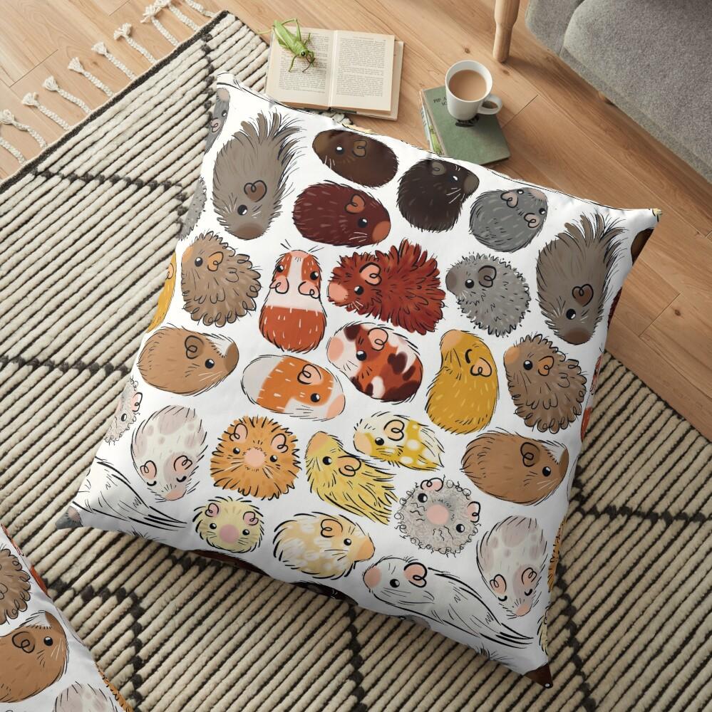 Guinea Pig Gradient Floor Pillow