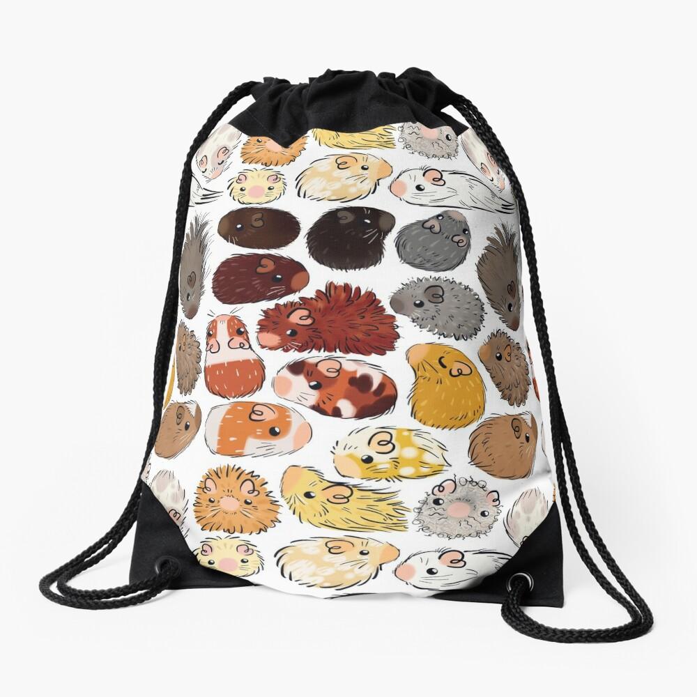 Guinea Pig Gradient Drawstring Bag