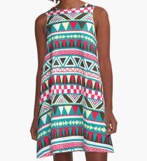 Retro Tribal Pattern A-Line Dress