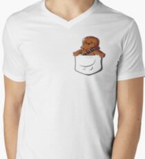 Wookie In A Pocket Cute Funny Fluffy Wooky Looking For A Hug Men's V-Neck T-Shirt