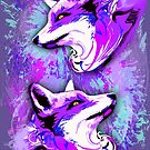 Purple Fox Spirit by BluedarkArt