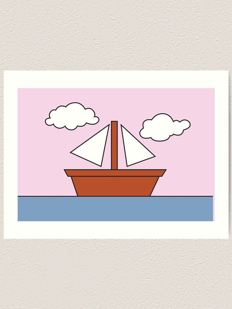 The Simpsons Living Room Boat Picture Pink Version | Art Print